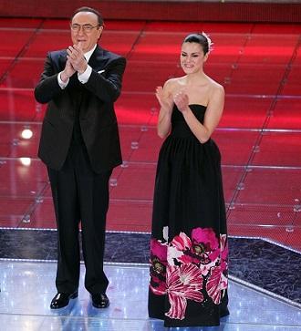 Sanremo 2008  Pippo Baudo e Bianca Guaccero