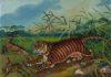 Antonio Ligabue. Tigre II periodo - olio su faesite cm 40x52