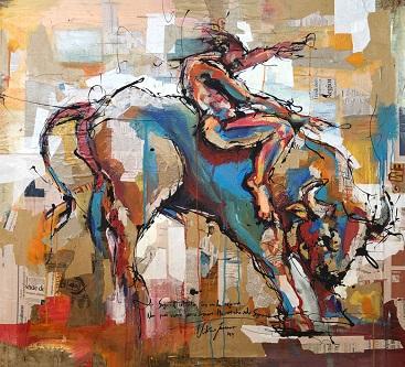 RvB-Arts Vittorio-Iavazzo Sogna-e-Vivi tecnica-mista-su-carta 100-x-120-cm light
