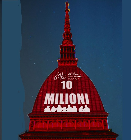 rendering proiezione mole 10 milionesimo visitatore