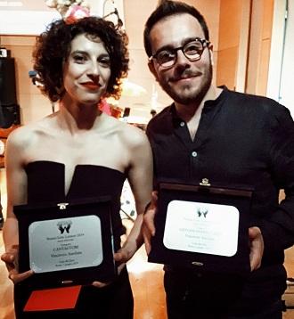 Caterina Comeglio e Danilo Tarso con il Premio Lelio Luttazzi r