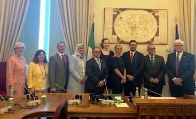 on. Fucsia Nissoli Fitzgerald con delegazione canadese