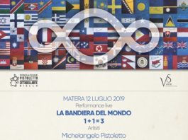 Locandina LA BANDIERA DEL MONDO Matera 2019