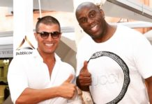 Claudio Rotunno con Magic Johnson