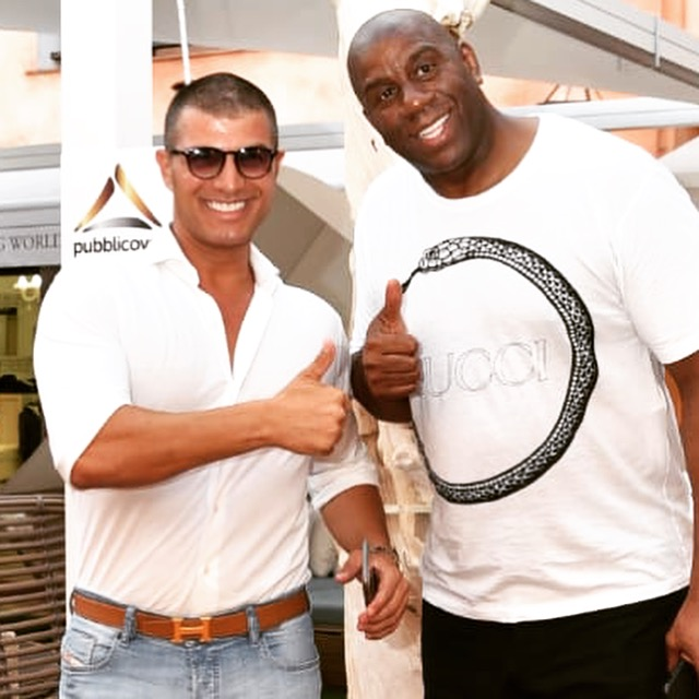 Claudio Rotunno con Magic Johnson
