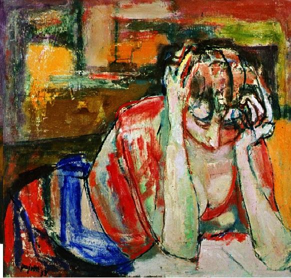 Donna assorta nella lettura Guido Pajetta 1955