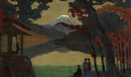Emil Orlik - Paesaggio con il monte Fuji -1908- Courtesy Daxer Marschall Gallery Monaco r