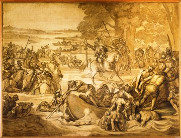 bozzetto Giovanni delle bande nere al passaggio dellAdda - copyright Firenze Musei
