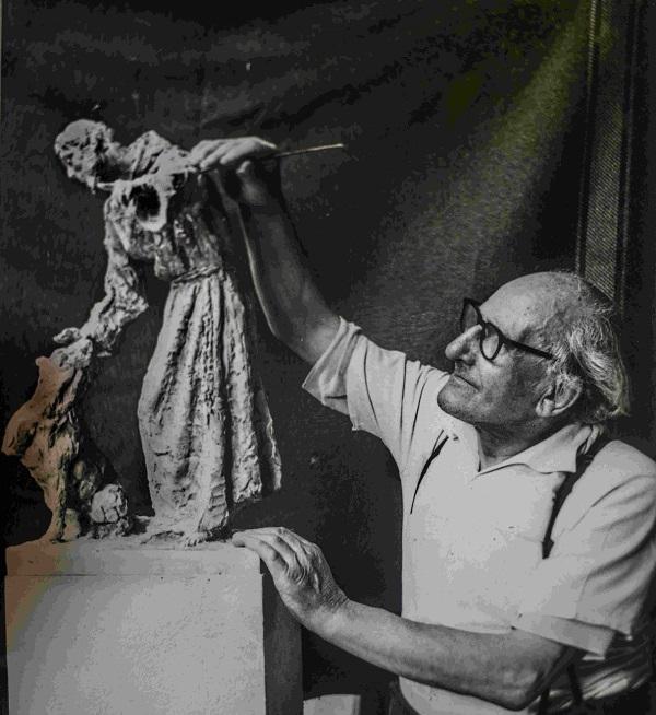 lo scultore silvio monfrini