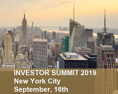 Investor Summit on September 16th in New York City