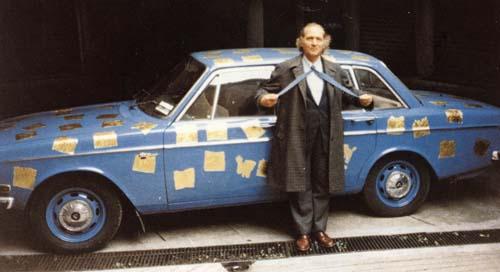 Remo Bianco Appropriazione della Volvo dArtista 1985 1r