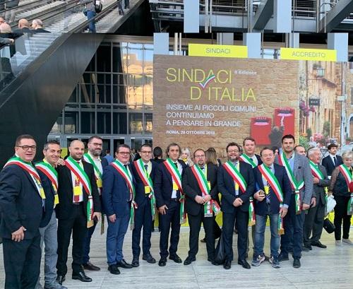 Alcuni Sindaci d'Italia dei 4000 presenti al Pala Vela