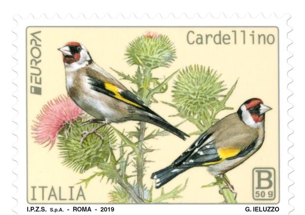 I francobolli della natura di Poste italiane cardellini