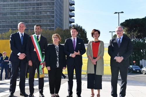 Le autorità all'evento dei Sindaci d italia