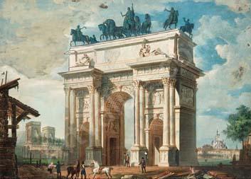 arco di napoleone a milano - migliara  giovanni 1785-1837