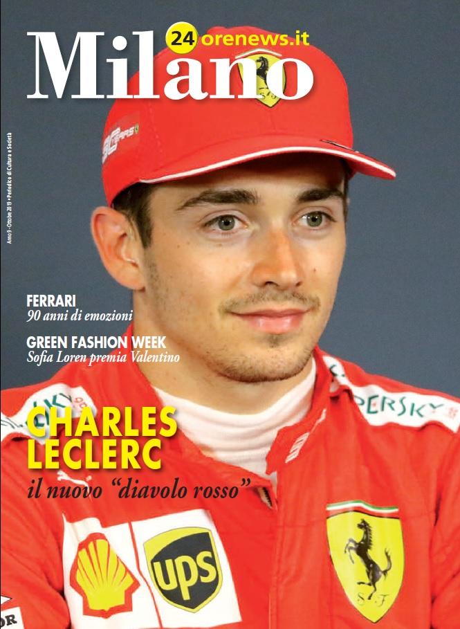 Milano 24orenews ottobre 2019 - Cover Leclerc