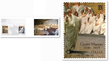 poste italiane - francobollo Cesare Maccari