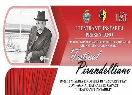 Carini. Un festival dedicato a Pirandello