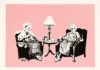 BanksyGrannies serigrafia limited edition su carta