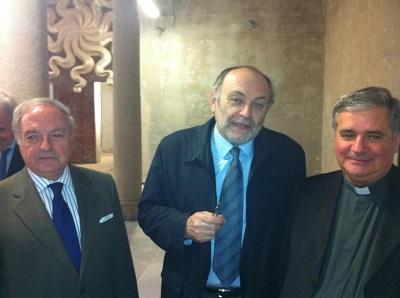 Gianantonio Borgonovo Arciprete del Duomo di Milano con Armando Torno e Achille Colombo Clerici