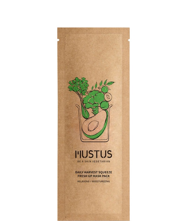Mustus Daily Harvest Squeeze Fresh Up Mask Pack