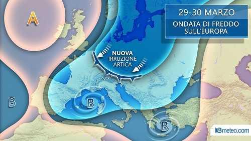 3BMETEO HD 29-30 marzo meteo italia freddo europea