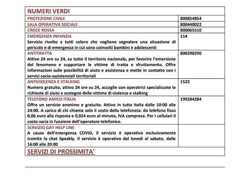 Comune di Roma - numeri utili r2