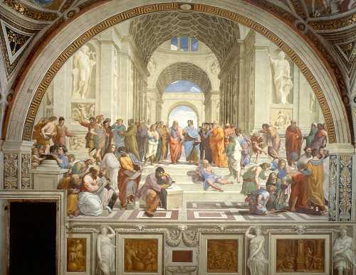 The School of Athens by Raffaello Sanzio da Urbino