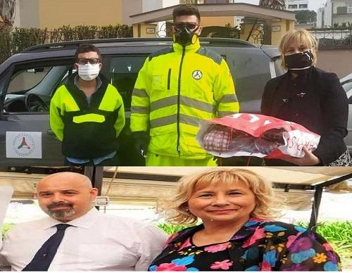 foto pratico protezione civile consegna mascherine lopa marzo 2020