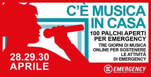 Cantanti e musicisti di tutta Italia in concerto per EMERGENCY 2