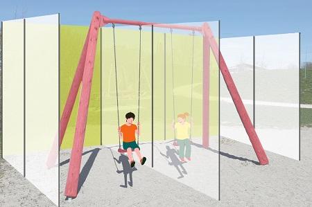 Delimita barriere protettive in aree giochi