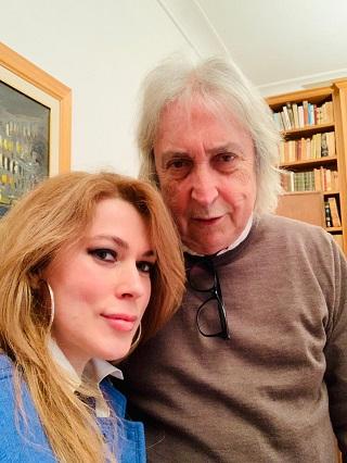 Enrico Vanzina con Francesca Bocchi