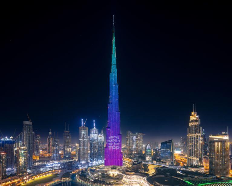 Burj Khalifa illuminazione
