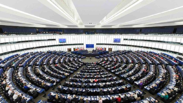 European Parliament Strasbourg Hemicycle - Photo by DAVID ILIFF