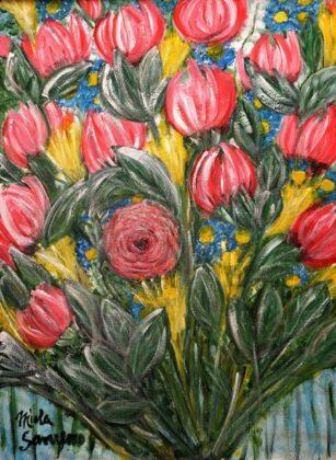 Opere Milly Miola 2017 Bouquet Di Fiori