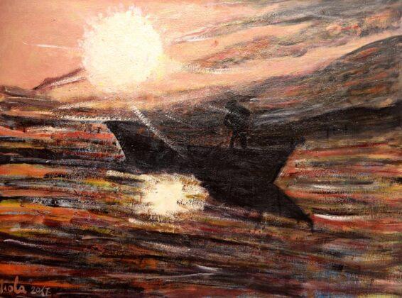 Opere Milly Miola 2017 Pescatore Al Chiaro Di Luna Montecarlo
