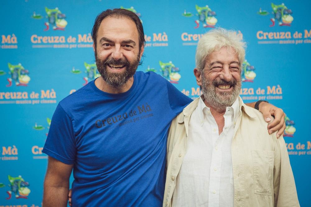 Neri Marcorè e Gianfranco Cabiddu al festival Creuza de Mà 2019 foto Sara Deidda 2m