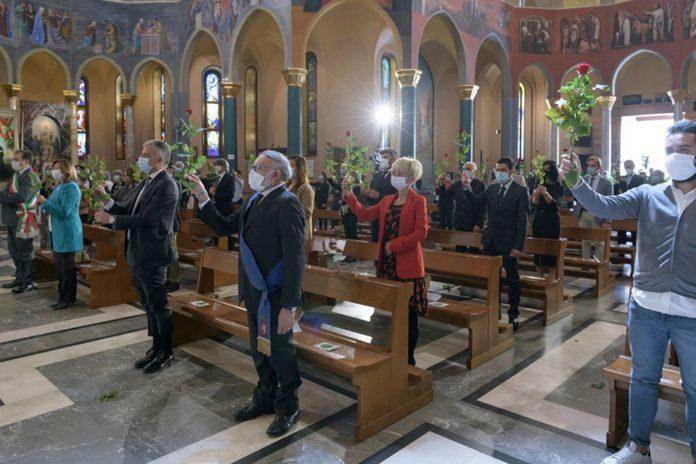 monastero santaritadacascia sindaco Cascia Presidente Tesei benedizione rose 22 maggio