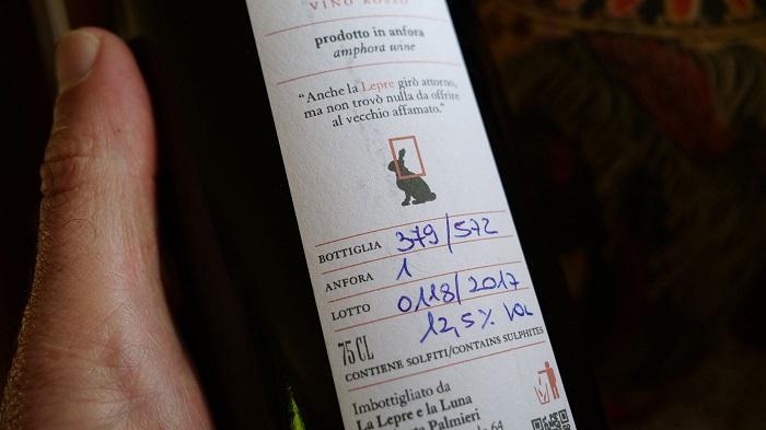 retro -etichetta bottiglie numerate