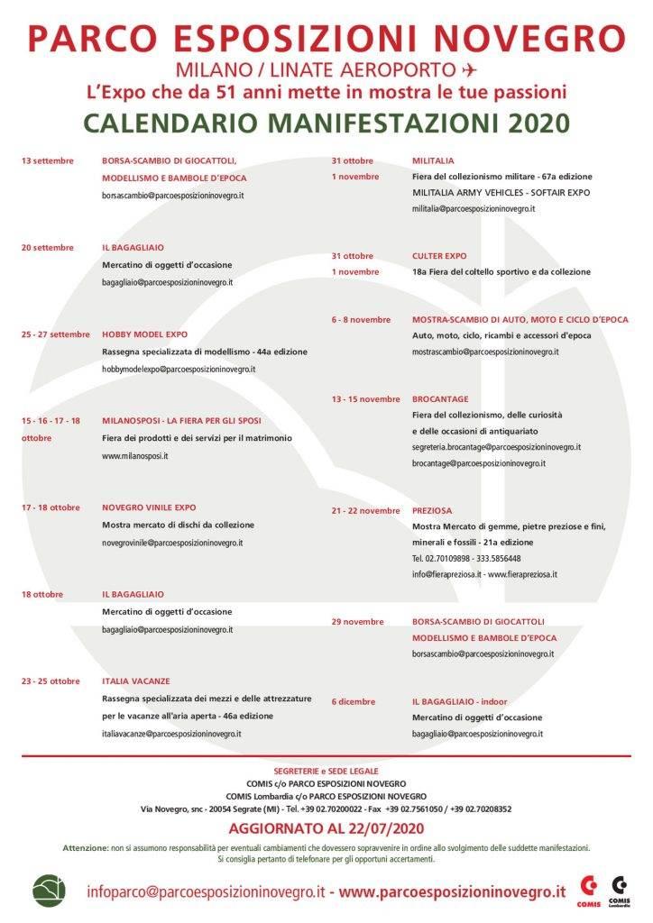 Milano. Parco Esposizioni di Novegro: eventi 2020   24 Ore News