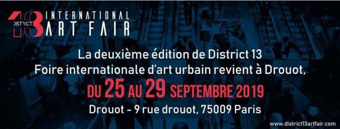 District 13 International Art Fair Revient à Drouot Septembre 2019