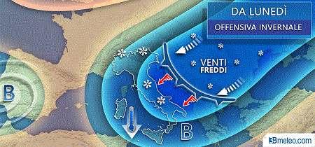 Da Lunedi Meteo Italia Neve Freddo