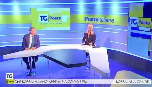 Ad Poste Italiane Matteo Del Fante Ospite Alla Prima Puntata Del Tg Poste