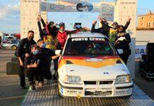 Davide Laco e Marco Garrucciu Porto Cervo Racing premiazione con il Team r