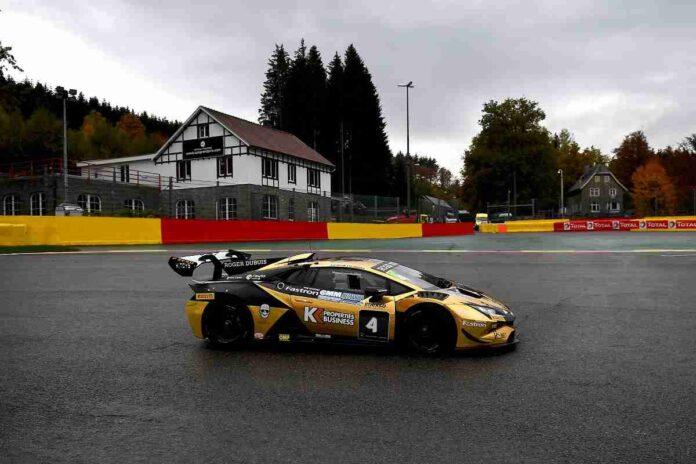 Fascicolo sul podio a Spa nel Lamborghini Super Trofeo Europa