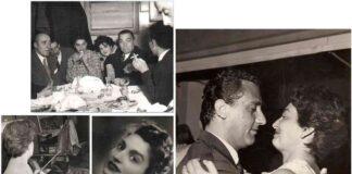 Dall'alto, in senso orario Eva Fischer con Cesare Zavattini, la signora Pertini e Corrado Alvaro Eva con Alberto Sordi