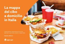 Just Eat mappa del cibo a domicilio in Italia