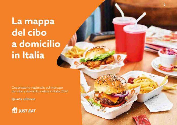 Just Eat mappa del cibo a domicilio in Italia