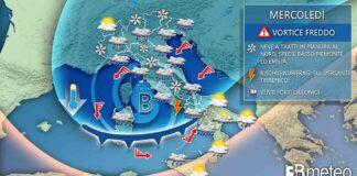 Mercoledì meteo italia evoluzione neve