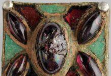 Una fibula con granati e vetri o smalti dalla necropoli di Masano